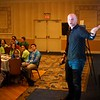 "BEN GARVER — THE BERKSHIRE EAGLE<br /> Robert Hackenson gives a talk called ""Dynamic Influence: Cyberbullying and Appropriate use of Communication Technology"" at the STRIVE youth leadership conference. The talk was part of STRIVE (Students Teaching Respect Integrity Values and Equality) at the Pittsfield Plaza Hotel."