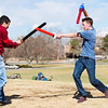 F0318SWASH3.jpg F0318SWASH3<br /> L-R: Ahnun Brainard andJake Bulinski battle it out during a game of Capture The Flag with the swashers in Scott Carpenter Park on Sunday afternoon, March 13th 2011.<br /> <br /> Photo by: Jonathan Castner