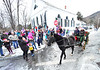 KRISTOPHER RADDER - BRATTLEBORO REFORMER<br /> Santa Clause waves to the people waiting for him at Union Hall in Newfane during WinterFest on Sunday, Dec. 11, 2016.