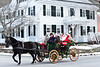KRISTOPHER RADDER - BRATTLEBORO REFORMER<br /> Santa Clause arrives in Newfane on the back of a horse-drawn carriage during WinterFest on Sunday, Dec. 11, 2016.