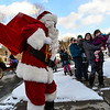 Santa visited Newfane on Sunday, bringing gifts to children with help from the group Newfane Anew.