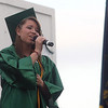 JOHN KLINE | THE GOSHEN NEWS<br /> Concord High School graduating senior Michelle Schrock performs the song Whenever You Remember during the school's graduation ceremony Friday.
