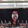 SAM HOUSEHOLDER | THE GOSHEN NEWS<br /> Sarah Wysong addresses the graduates of the NorthWood High School class of 2014 during the commencement ceremony Friday.