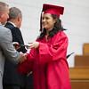 at the NorthWood High School graduation ceremony Friday.