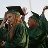HALEY WARD | THE GOSHEN NEWS<br /> Students turn their tassels to signify graduating during Concord High School's Graduation on Thursday.