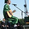 "HALEY WARD | THE GOSHEN NEWS<br /> J. Alex Acosta performs ""It's So Hard to Say Goodbye to Yesterday"" during Concord High School's Graduation on Thursday."