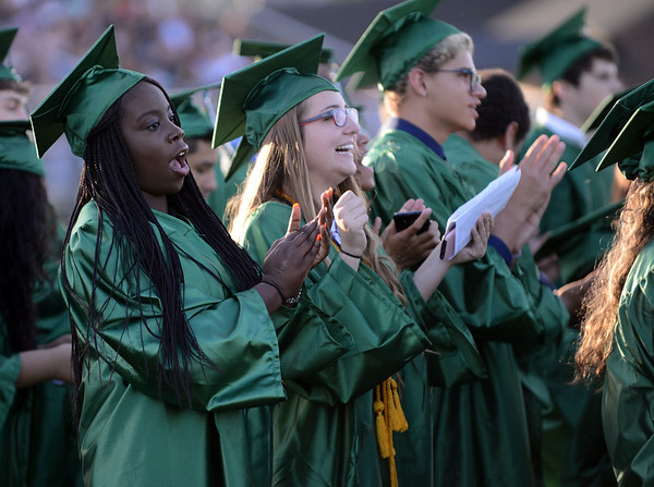 HALEY WARD | THE GOSHEN NEWS<br /> Students clap during Concord High School's Graduation on Thursday.