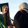 HALEY WARD | THE GOSHEN NEWS<br /> Incala Cunningham receives her diploma during Concord High School's Graduation on Thursday.