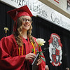 HALEY WARD | THE GOSHEN NEWS<br /> Mykayla Newman smiles after receiving her diploma during NorthWood High School's Commencement on Friday.