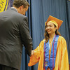 LYNNE ZEHR | THE GOSHEN NEWS Fairfield senior Yasmine Mendoza receives her diploma Sunday.