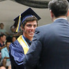LYNNE ZEHR | THE GOSHEN NEWS Fairfield senior Brock Goeglein receives his diploma Sunday.