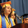 LYNNE ZEHR | THE GOSHEN NEWS Fairfield senior Emma Lashley speaks as part of the Top Ten Address Sunday at the high school.