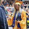 LYNNE ZEHR | THE GOSHEN NEWS Fairfield senior Elise Sharkey receives her diploma Sunday.