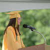 HALEY WARD | THE GOSHEN NEWS<br /> Class President Mackenzie Rose Kauffman welcomes everybody to Northridge High School's Commencement on Sunday.