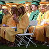 HALEY WARD | THE GOSHEN NEWS<br /> Students listen to the welcome by Mackenzie Kauffman during Northridge High School's Commencement on Sunday.