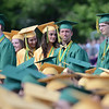 HALEY WARD | THE GOSHEN NEWS<br /> Students stand as they are regonized as receiving the Medal of Honor during Northridge High School's Commencement on Sunday.
