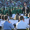 JOHN KLINE | THE GOSHEN NEWS <br /> Conductor Scott Spradling directs the Concord High School Band as the school's graduating seniors take their seats during the kickoff of the 2017 commencement ceremony at the high school Thursday evening.