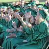 JOHN KLINE | THE GOSHEN NEWS <br /> Concord High School graduating seniors cheer following a musical performance by fellow senior Lucy Campos during the 2017 commencement ceremony at the high school Thursday.