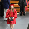 JULIE CROTHERS BEER | THE GOSHEN NEWS<br /> NorthWood High School senior Cassandra Howard walks across the stage after receiving her diploma Friday night.