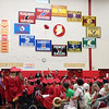 SHERRY VAN ARSDALL | THE GOSHEN NEWS One 2017 Westview senior tosses his cap in the air among the 87 graduates during the 51st commencement ceremony at Westview Jr-Sr High School in Topeka Thursday.
