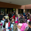 SAM HOUSEHOLDER | THE GOSHEN NEWS<br /> Students line up to go into the school for the first day of class at West Goshen Elementary School Thursday.
