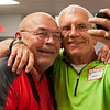 HALEY WARD | THE GOSHEN NEWS<br /> Fred Yoder and Jim Yoder take a selfie at the Goshen High School Alumni Reunion Sept. 1 at the Elkhart County 4-H Fairgrounds. The two graduated from Goshen in 1960, and said they have been friends for a very long time. More photos from the reunion can be viewed at goshennews.com.