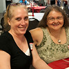 HALEY WARD | THE GOSHEN NEWS<br /> Brenda Houser, class of 1984, and Diane Mae Love during the Goshen High School Alumni Reunion on Sept. 1 at the Elkhart County 4-H Fairgrounds.