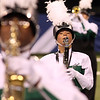 Freshman Kaylie Taylor plays during Concord's state band finals performance.
