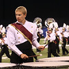 Northridge freshman Caleb Howenstine plays percussion during the band's performance in Indianapolis.
