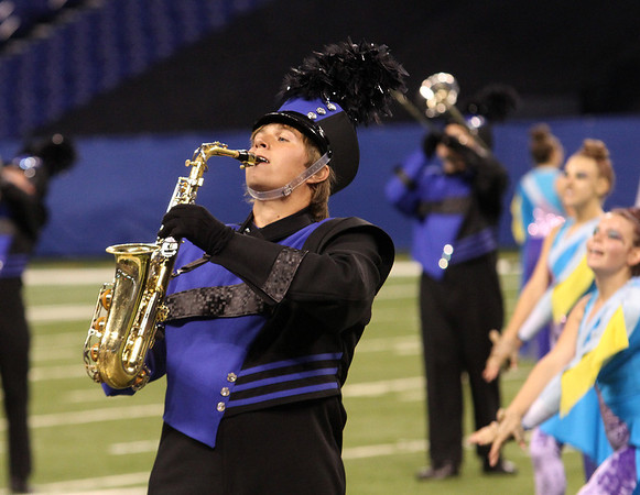 Joseph Beck plays saxaphone with the Fairfield Marching Band Saturday at the ISSMA State Band Finals.