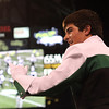 Concord senior drum major leads the band during its performance Saturday at the ISSMA State Band Finals.