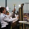 Jennifer Meier | The Goshen News<br />  Wyatt Tiffany, a freshman, plays the chimes for the Northridge Raiders band Saturday.