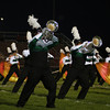 Jennifer Meier | The Goshen News<br /> The horn section of the Concord marching band lean into their show at Elkhart Memorial High School Saturday.