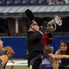 SAM HOUSEHOLDER | THE GOSHEN NEWS<br /> NorthWood sophomore Nathan Schmitt plays during the Red Regiment's performance at the ISSMA State Marching Band Finals in Indianapolis Saturday.