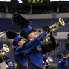 SAM HOUSEHOLDER | THE GOSHEN NEWS<br /> Fairfield eightth grade student Candy Jensen plays during the ISSMA State Marching Band Finals in Indianapolis Saturday.