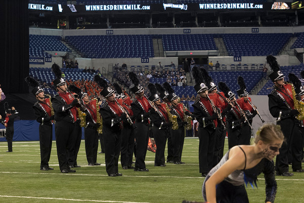 SAM HOUSEHOLDER | THE GOSHEN NEWS<br /> during the ISSMA State Marching Band Finals in Indianapolis Saturday.