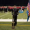 SAM HOUSEHOLDER | THE GOSHEN NEWS<br /> NorthWood junior Kaitlyn Yoder stands behind the school's fourth place trophy during the ISSMA State Marching Band Finals in Indianapolis Saturday.