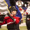 SAM HOUSEHOLDER | THE GOSHEN NEWS<br /> Freshman Hannah Scott performs with the Goshen Crimson Marching Band during the ISSMA State Marching Band Finals at Lucas Oil Stadium in Indianapolis Saturday. Goshen performed in Class A.