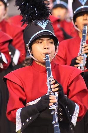SHERYL SCHRAMEYER | THE GOSHEN NEWS<br /> Angy Cruz plays the clarinet for Goshen Saturday night at Fort Wayne Northrop.