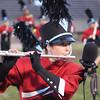 SHERYL SCHRAMEYER | THE GOSHEN NEWS<br /> Katja Norton performs for the Goshen marching band Saturday at Fort Wayne Northrop.