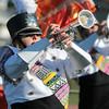 STACEY DIAMOND | THE GOSHEN NEWS<br /> Northridge trumpet player Sydney Fogle plays with the band Saturday.