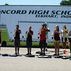 HALEY WARD | THE GOSHEN NEWS <br /> Students warm up during marching band practice at Concord High School.