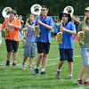 HALEY WARD | THE GOSHEN NEWS<br /> Students play the saxophone during the Marching Chargers' rehearsal Tuesday at NorthWood High School.