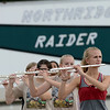 HALEY WARD | THE GOSHEN NEWS<br /> The flute section of the Marching Raiders rehearse Tuesday at Northridge High School.