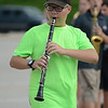 HALEY WARD | THE GOSHEN NEWS<br /> Freshman Elijah Ralls plays the clarinet during the Marching Raiders' rehearsal Tuesday at Northridge High School.