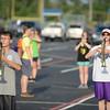 HALEY WARD | THE GOSHEN NEWS <br /> Eighth-grader Riah Haarer and junior Kandi Jensen practice at Fairfield Jr.-Sr. High School.