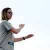 HALEY WARD | THE GOSHEN NEWS<br /> Drum major Mandi Mall directs during the Marching Warrior Pride's rehearsal Tuesday at Wawasee High School.