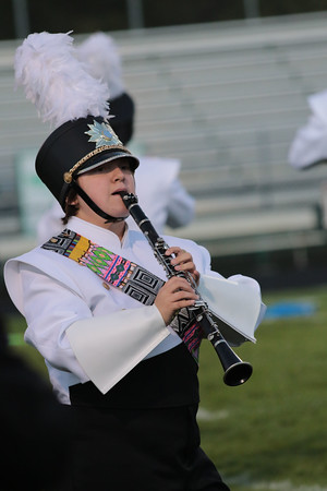 Stacey Diamond | The Goshen News<br /> KATIE SHIRLEY plays her clarinet during Northridge's show at the Concord Band Invitational Saturday. The Northridge band finished first in Class B competition.