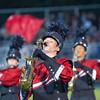 Goshen freshman Danill Shendel plays saxophone with the Crimson Marching Band Saturday.