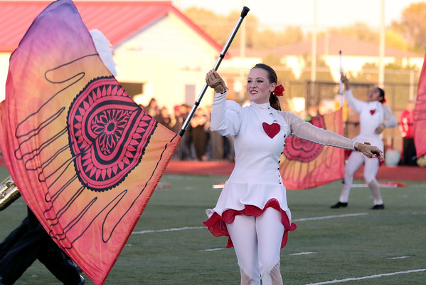 STACEY DIAMOND | THE GOSHEN NEWS<br /> Chloe Wigent of Concord High School's Marching Minutemen performs Saturday during the Class B semistate contest.